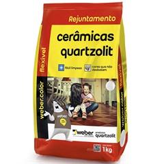 Rejunte Aditivado Flexível Bege 1kg - Quartzolit