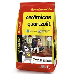 Rejunte Aditivado Flexível Branco 5kg - Quartzolit