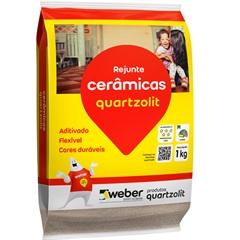 Rejunte Aditivado Flexível Caramelo 1kg - Quartzolit