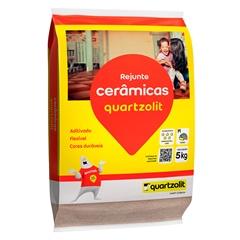 Rejunte Aditivado Flexível Marrom Café 1kg - Quartzolit