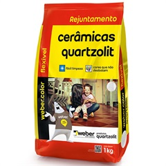 Rejunte Aditivado Flexível Preto 1kg - Quartzolit