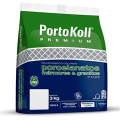Rejunte Flexível E Impermeável P-Flex Cinza Ártico 3kg - Portokoll