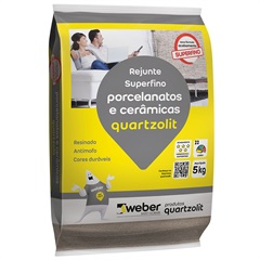 Rejunte para Porcelanatos E Cerâmicas Caramelo 5kg - Quartzolit