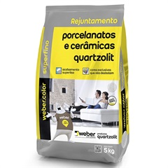 Rejunte para Porcelanatos E Cerâmicas Cinza Platina 5kg - Quartzolit