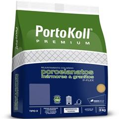 Rejunte para Porcelanatos Mármores E Granitos P-Flex Preto 3kg - Portokoll