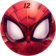 Relógio de Parede em Vidro Redondo Homem Aranha 30cm Vermelho - Importado