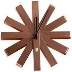 Relógio de Parede Ribbon 30cm Bronze