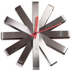 Relógio de Parede Ribbon 30cm Prata - Casa Etna