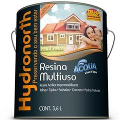 Resina Acrílica Impermeabilizante Multiuso Acqua Cerâmica Ônix 3,6 Litros - Hydronorth