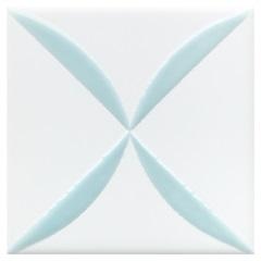 Revestimento Acetinado Borda Bold Astron Azul 15x15cm - Eliane