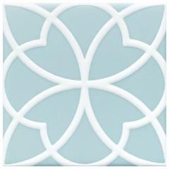 Revestimento Acetinado Borda Bold Aura Azul 15x15cm - Eliane