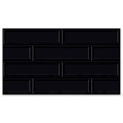 Revestimento Acetinado Borda Bold Block Black 32x57cm - Carmelo Fior