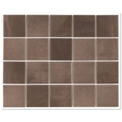 Revestimento Acetinado Borda Bold Croma Marrom Mesh 7,5x7,5cm - Eliane
