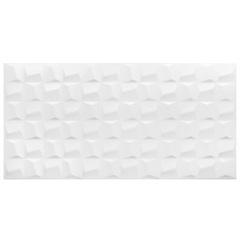 Revestimento Acetinado Borda Bold Cubic White 45x90cm - Eliane