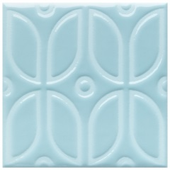 Revestimento Acetinado Borda Bold Glacial Azul 15x15cm - Eliane