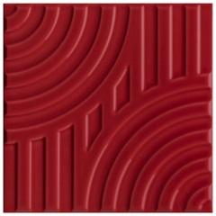 Revestimento Acetinado Borda Bold Poente Arco Vermelho 15x15cm - Eliane
