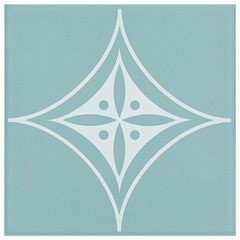 Revestimento Acetinado Borda Bold Sideral Azul 15x15cm - Eliane