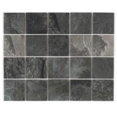 Revestimento Acetinado Borda Reta Ardosia Black Mesh Cinza 7,5x7,5cm - Eliane