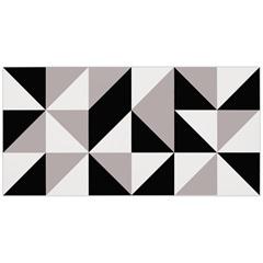 Revestimento Acetinado Borda Reta Bauhaus Branco E Preto 45x90cm - Eliane