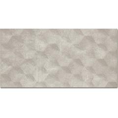 Revestimento Acetinado Borda Reta Charm Cubic Grey 29,1x58,4cm - Portinari