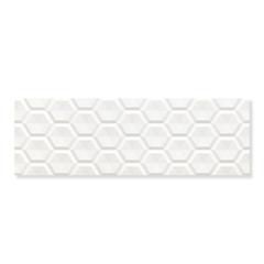 Revestimento Acetinado Borda Reta Colmeia Branco 30x90cm - Eliane