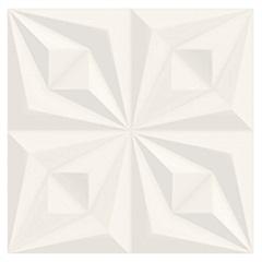 Revestimento Acetinado Borda Reta Drapeado Branco 58x58cm - Ceusa
