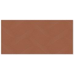 Revestimento Acetinado Borda Reta Joaquina Terracota 43,2x91cm - Ceusa