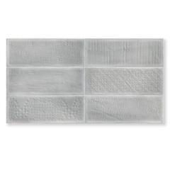 Revestimento Acetinado Borda Reta Laterizi Grigio Cinza 32x60cm - Biancogres