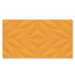 Revestimento Acetinado Borda Reta Losango Amarelo 32,5x59cm - Eliane