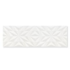 Revestimento Acetinado Borda Reta Losango Branco 30x90cm - Eliane