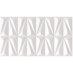 Revestimento Acetinado Borda Reta Ludo Branco 32x59cm - Incepa