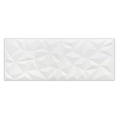 Revestimento Acetinado Borda Reta Poligon Branco 120x45cm - Eliane