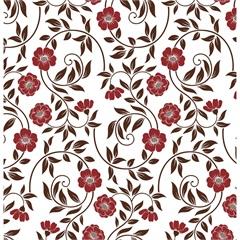 Revestimento Autoadesivo Flower 45cm com 2 Metros Vermelho - Plastcover
