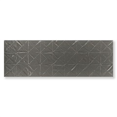 Revestimento Borda Reta Evidence Origami Steel Matte Lux Cinza 29,1x87,7cm - Cerâmica Portinari