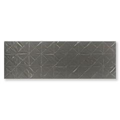Revestimento Borda Reta Evidence Origami Steel Matte Lux Cinza 29,1x87,7cm - Portinari