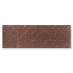 Revestimento Borda Reta Evidence Origami Steel Matte Lux Ouro 29,1x87,7cm - Portinari