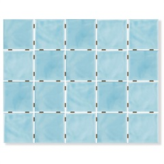 Revestimento Brilhante Borda Bold Azul Céu Onda Mesh 7,5x7,5cm - Eliane