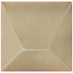 Revestimento Brilhante Borda Bold Block Dourado 15,4x15,4cm - Roca