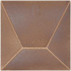 Revestimento Brilhante Borda Bold Block Marrom 15,4x15,4cm - Roca