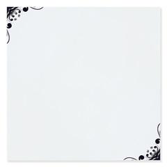 Revestimento Brilhante Borda Bold Clove Branco E Preto 20x20cm - Pierini