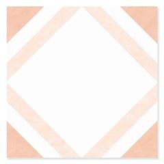 Revestimento Brilhante Borda Bold Coimbra Branco E Laranja 20x20cm - Pierini