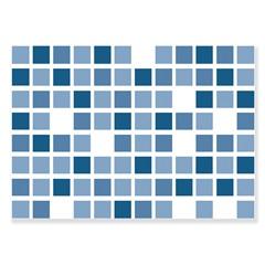 Revestimento Brilhante Borda Bold Dhama Azul 32x45cm