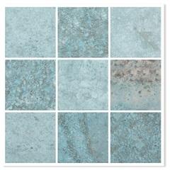 Revestimento Brilhante Borda Bold Java Mar Mesh Azul 10x10cm - Eliane