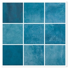 Revestimento Brilhante Borda Bold Noronha Mar Mesh Azul 10x10cm - Eliane