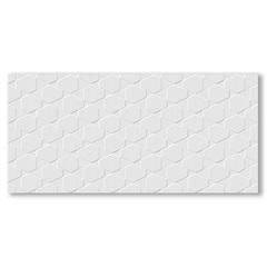 Revestimento Brilhante Borda Reta Canelado Branco 43,2x91cm - Ceusa