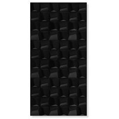 Revestimento Brilhante Borda Reta Cubic Black Gloss Preto 45x90cm - Eliane