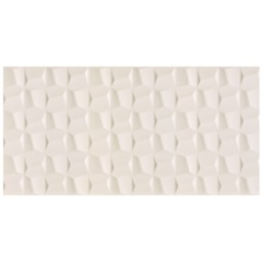 Revestimento Brilhante Borda Reta Cubic Pérola Branco 45x90cm - Eliane