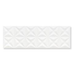 Revestimento Brilhante Borda Reta Estrela Branco 30x90cm - Eliane