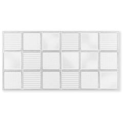 Revestimento Brilhante Borda Reta Glass Fumê Branco 45x90cm - Eliane