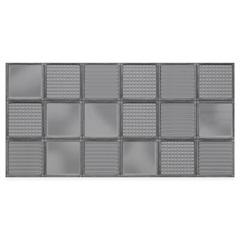 Revestimento Brilhante Borda Reta Glass Gray 45x90cm - Eliane